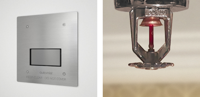 Automist Smartscan fire suppression system versus traditional fire sprinkler system